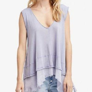 NEW Free People Peachy Lilac Periwinkle Tank Top M